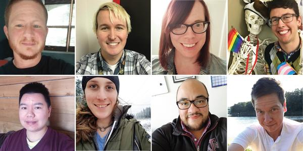 <strong><em></em></strong><em></em>Teachers from across the country shared their experiences. Clockwise from top left: Westley Aliquo, Bailey Coffman, Jennifer Eller, Lewis Maday-Travis, Ei Meeker, Mario Suarez, McKinley Morrison and Sam Long.<strong></strong>