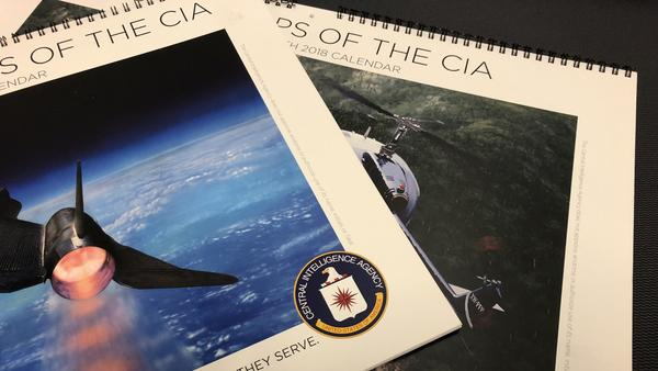 <em>Secret Ops of the CIA</em> and <em>Secret Aviation Ops of the CIA </em>wall calendars contain paintings depicting declassified spy missions from the agency's past. The original paintings are displayed at CIA headquarters in Virginia.