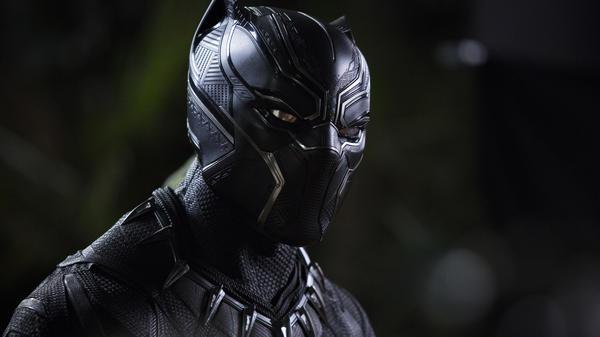 Chadwick Boseman as T'Challa in <em>Black Panther</em>.