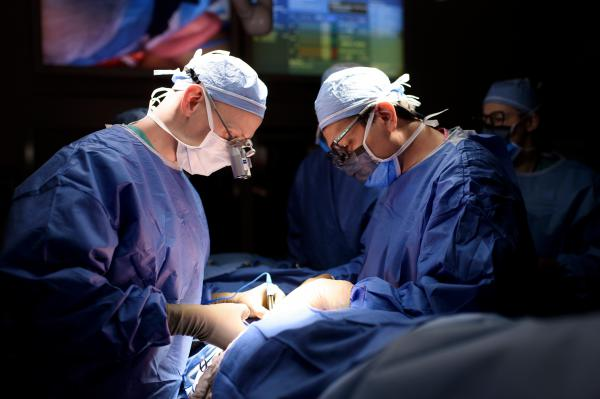 Dr. Joseph H. Dayan (left) and Dr. Babak Mehrara are plastic and reconstructive surgeons at Memorial Sloan Kettering Cancer Center. Lymph node transfer has been around for about a decade, Dayan says, but recent advances in imaging have improved the technique's chances for success.