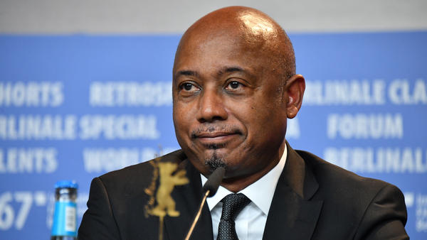 Director Raoul Peck attends the <em>The Young Karl Marx</em> press conference during the 67th Berlinale International Film Festival Berlin.