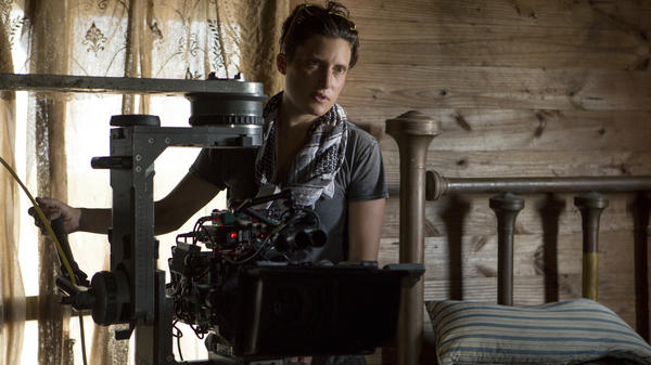 Rachel Morrison, seen here on set for <em>Mudbound</em>, had her big breakthrough with <em>Fruitvale Station </em>in 2013.