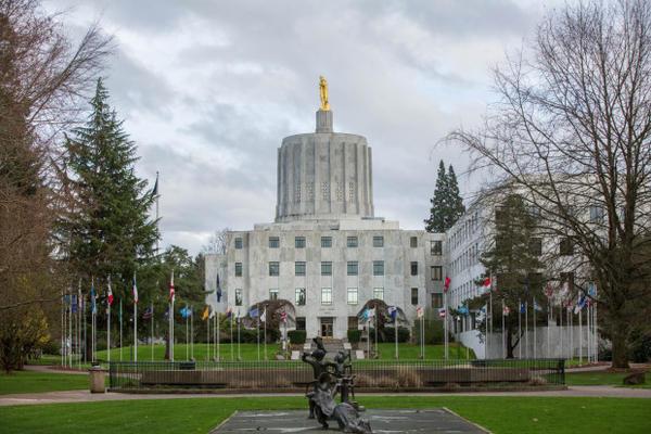 <p>The Oregon Capitol.</p>