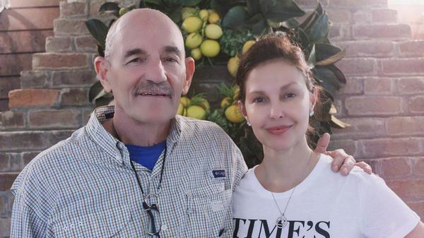 Actress Ashley Judd and her friend, Ted Klontz, outside Nashville, Tenn.