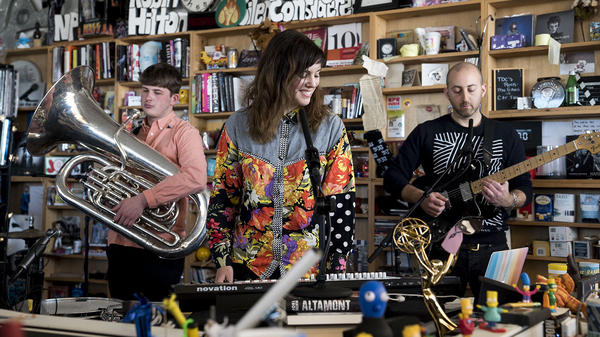 Anna Meredith performs a Tiny Desk Concert on February 5, 2018. (Eslah Attar/NPR)