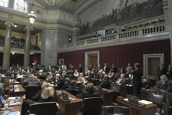 Missouri House members consider resolution to authorize investigation of indictment against Gov. Eric Greitens.