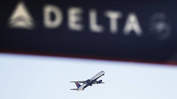 A Delta Air Lines flight takes off from Hartsfield-Jackson Atlanta International Airport in Atlanta in January of last year.