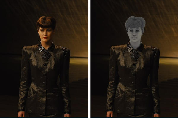 Sean Young appeared in <em>Blade Runner </em>in 1982. These stills show the actress digitally re-created for <em>Blade Runner 2049.</em>