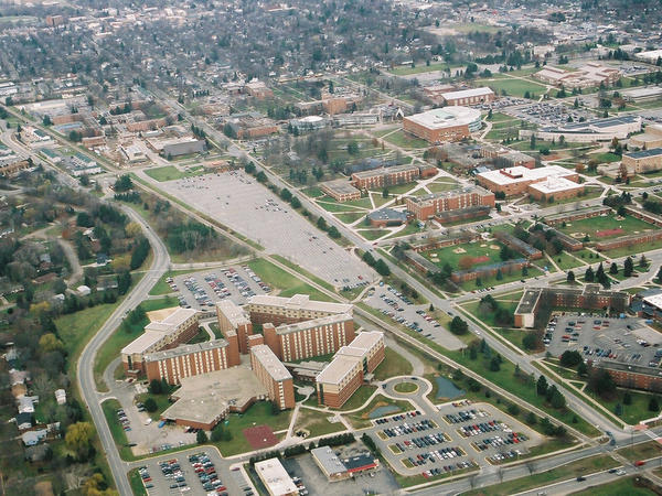 Two people were fatally shot in a dormitory on the campus of Central Michigan University in Mount Pleasant on Friday morning. They were the parents of a student who was apprehended by police.