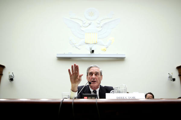 Then-FBI Director Robert Mueller testifies during a hearing before the House Judiciary Committee on June 13, 2013, on Capitol Hill.