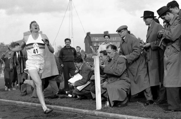 On May 6, 1954, Britain's Roger Bannister hits the tape to become the first person to break the 4-minute mile in Oxford, England. His family said Sir Roger Bannister died peacefully in Oxford on March 3 at age 88.