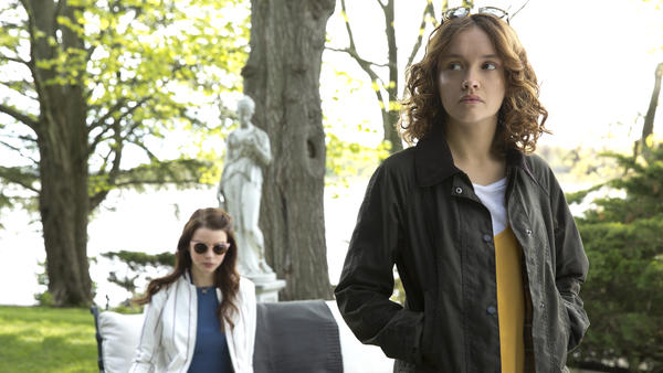 Lily (Anya Taylor-Jo, L) and Amanda (Olivia Cooke, R) hatch a plot to kill a troublesome step-father in <em>Thoroughbreds. </em>