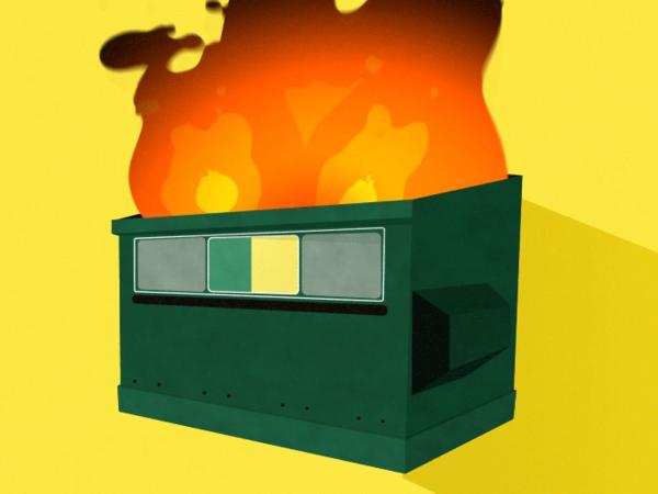 A dumpster fire.