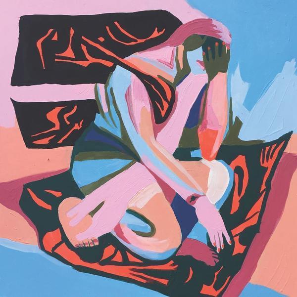 Wax Idols' <em>Happy Ending</em> artwork was painted by Lena Gustafson.