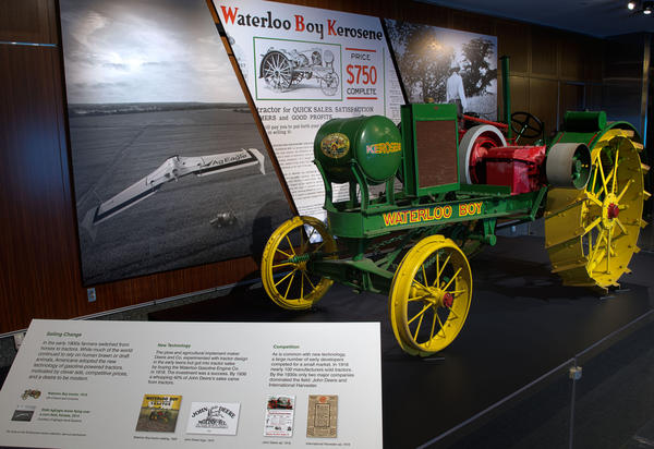 The entrance to the Year of the Tractor, Precision Farming exhibit at the Smithsonian