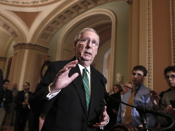 Senate Majority Leader Mitch McConnell, R-Ky., says Republicans in Congress are concerned that President Trump's proposed tariffs might metastasize into a larger trade war.