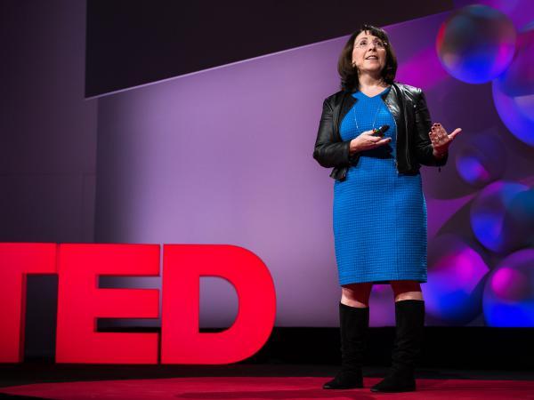 Lisa Feldman Barrett on the TED stage.
