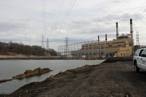 Ameren Missouri's Rush Island Energy Center has one pond that it uses to dump coal ash waste, similar to the one pictured at the Meramec Energy Center.