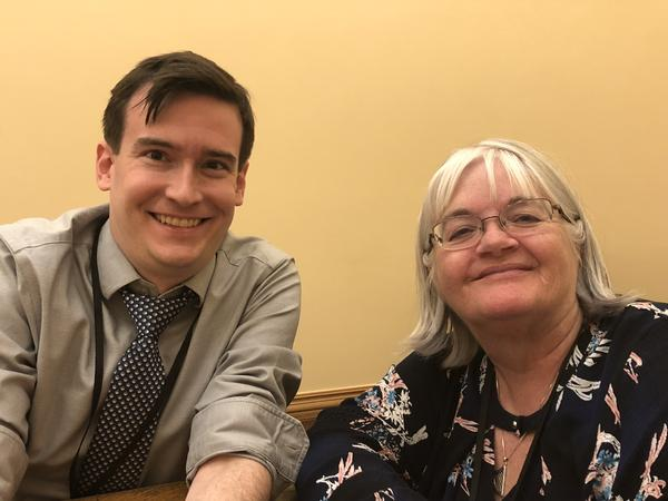 Brian Eason with the Denver Post and Marianne Goodland with Colorado Politics