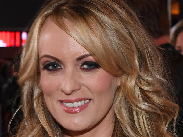 Stormy Daniels at the 2018 Adult Video News Awards at the Hard Rock Hotel & Casino on Jan. 27,  in Las Vegas.
