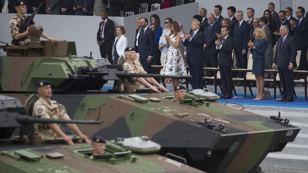 The Bastille Day festivities in Paris last summer gave President Trump the inspiration to call for a military parade in Washington. But the Pentagon says there will be no tanks in its parade in November.