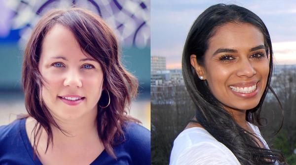 Karen Duffin (left) and Sarah Gonzalez (right).