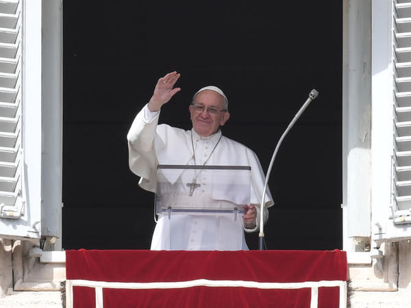 Pope Francis waves to the crowd in St. Peter's Square on Sunday. Recent months have seen Francis become the target of criticism on various fronts, and his image as a charismatic reformer has suffered some hits.