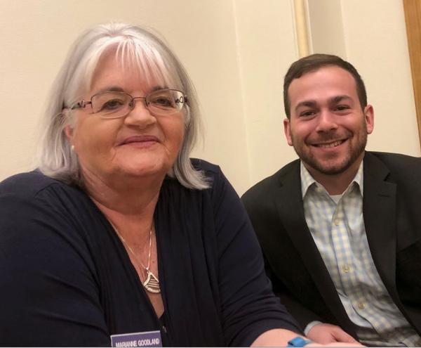 Marianne Goodland with Colorado Politics and Jesse Paul of the Denver Post.