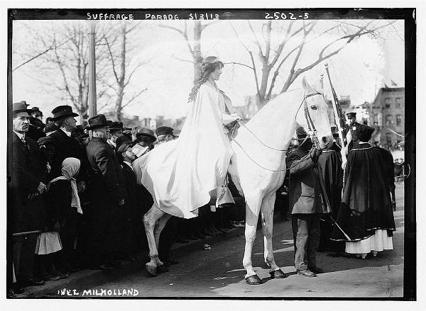 Inez Milholland, a leader in the women's suffrage movement.