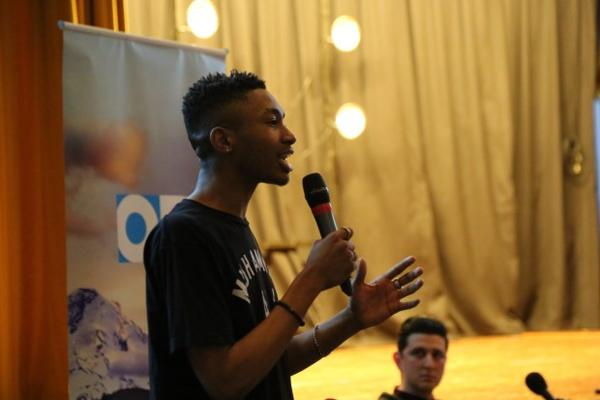 """<p>Tyler White is a member of the student advocacy group The CENTER, which collaborated with """"Think Out Loud"""" for a live show on race and education.</p>"""