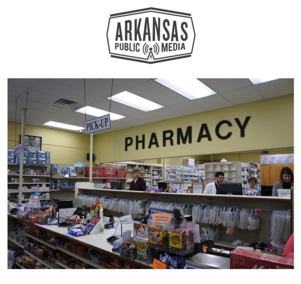 James Bethea, behind the counter at The Coker-Hampton Drug Company of downtown Stuttgart, hopes Arkansas will begin regulating the Parmacy Benefit Managers that decide how much he gets compensated per prescription sale.