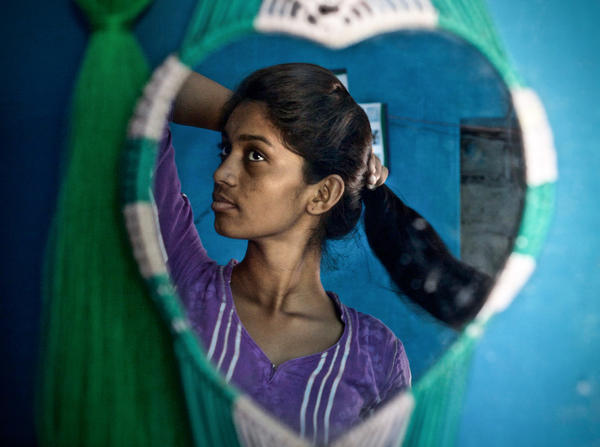 Durga, now 21, was married in her northern Indian village at the age of 15. Her father, who forced her into the marriage, has since had a change of heart and is striving to dissolve the union.