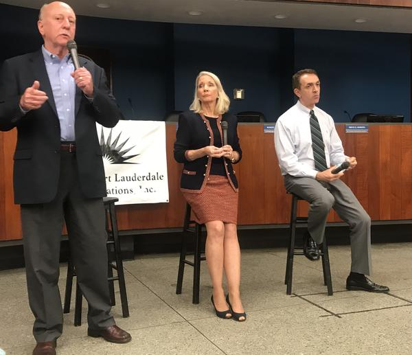 All three original mayoral candiates for Fort Lauderdale's mayoral race. Trantalis, right.