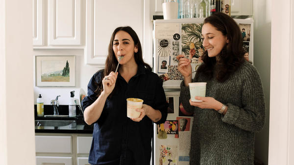 Atara Bernstein, left, and Ariel Pasternak, founded Pineapple Collective to create a space for women in food to share ideas.