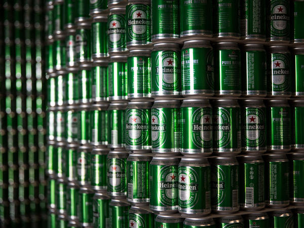 Heineken has bottling plants around the world.