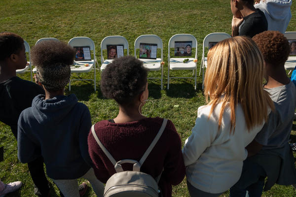 Students at Maplewood Richmond Heights remember the victims of the Feb. 14 school shooting in Parkland, Florida.