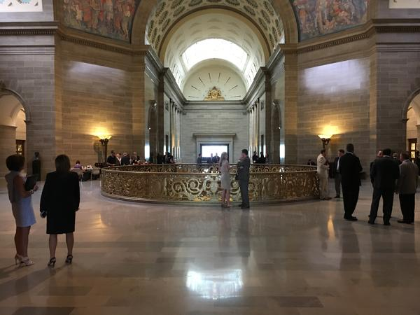 The third floor Rotunda of the Missouri Capitol.