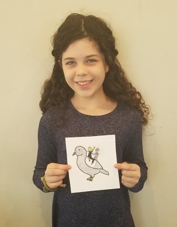 Xana shows off her winning entry
