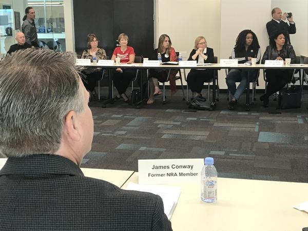 Former members of the National Riffle Association joined the congresswoman's round table discussion.