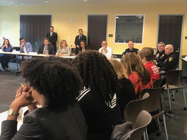 The second of at least three round tables, was lead by Congresswoman Debbie Wasserman Schultz. She also organized similar listening sessions with local leaders after the Fort Lauderdale-Hollywood Internatiopnal Airport shooting in January of 2017.