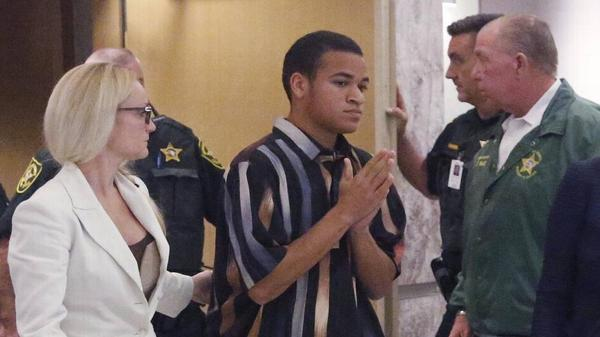 Zachary Cruz during one of his brother's court appearances.