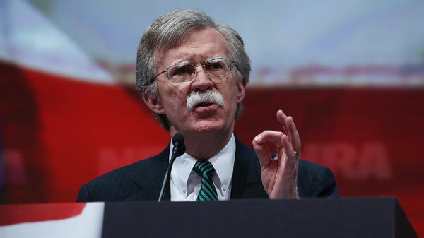 Former U.S. ambassador to the U.N. John Bolton speaks during the 2013 NRA Annual Meeting in Houston, the same year he recorded a promotional video for a Russian gun rights group with ties to the NRA.