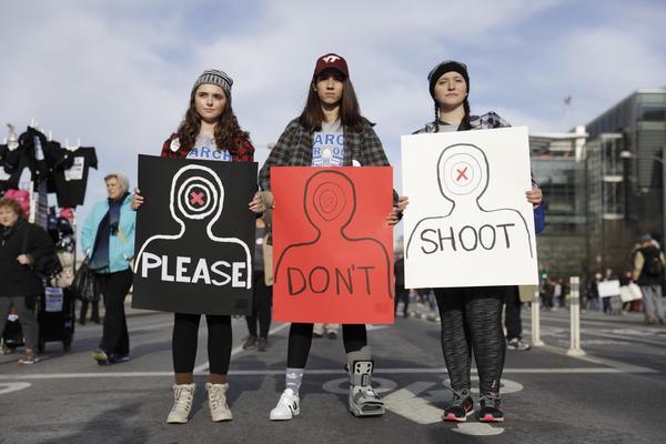 Susan Getis, 17 (from left), Leyla Kolbai, 17, and Jilian Donahue, 18, are all seniors at Riverside High School in Leesburg, Va.
