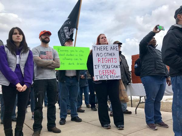 "The ""March for Our Guns"" rally convened near the steps of the state Capitol in Helena in response to the ""March for Our Lives"" rallies across the country. Pro-gun demonstrations were held in Utah, Idaho and other states as well."