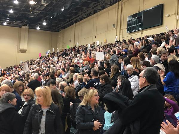 Nearly a thousand people showed up to a solidarity rally in Farmingdale, Long Island.