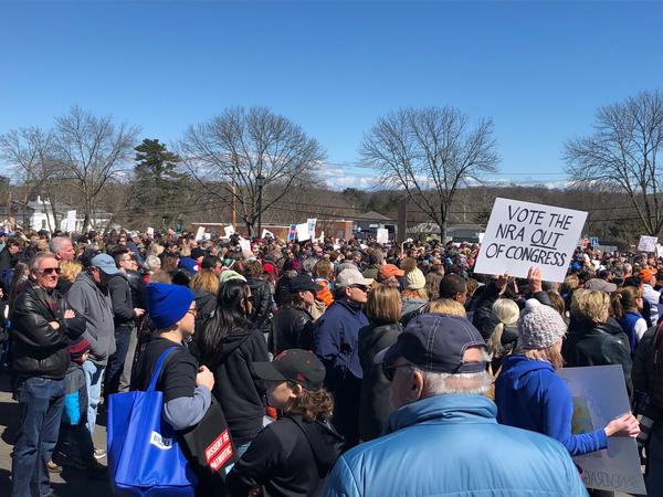 In Huntington, Long Island, more than 500 community members showed up to a student-organized rally.
