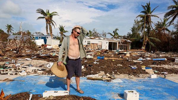 Debris on Islamorada, Florida after Hurricane Irma