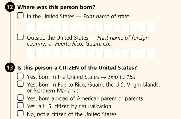 "The 2000 long-form survey, sent to a subset of Americans, asked about citizenship. The more widely distributed <a href=""https://www.census.gov/history/pdf/2000_short_form.pdf"">census short form</a> that year did not."
