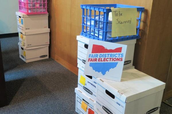 Petition signatures for proposed citizen-led redistricting issue.