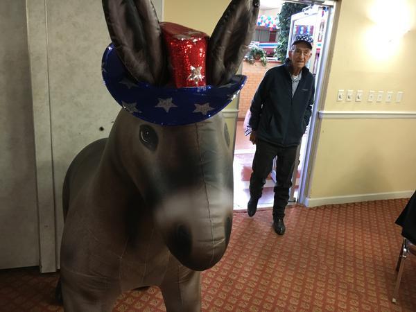 Democrat Days co-founder John Yancey walks into a brunch event at Democrat Days in Hannibal.